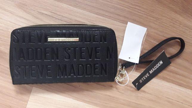 Duży portfel Steve Madden nowy czarny saszetka