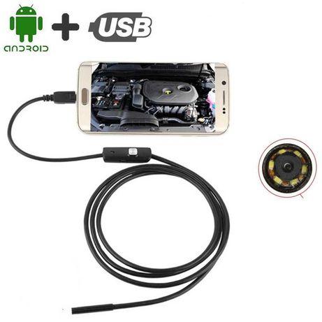 Эндоскоп водонепроницаемый USB камера 2м 5,5мм для Android OTG PC ЮСБ