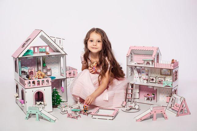 Супер домик Дача для кукол LOL NestWood Ляльковий будинок Лол мебель