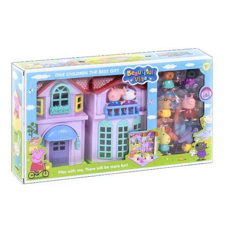 Игровой набор домик со звуком и светом свинка Пеппа 4 комнаты, 8 фигур