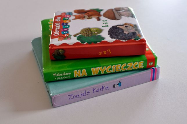 Trzy książeczki dla Malucha, w tym książeczka puzzle
