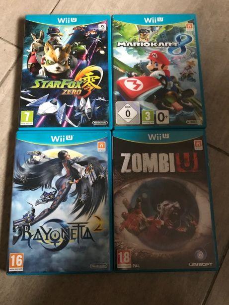 Nintendo Wii U 4 gry ZESTAW Mario Kart, Star Fox, Bayonetta 2