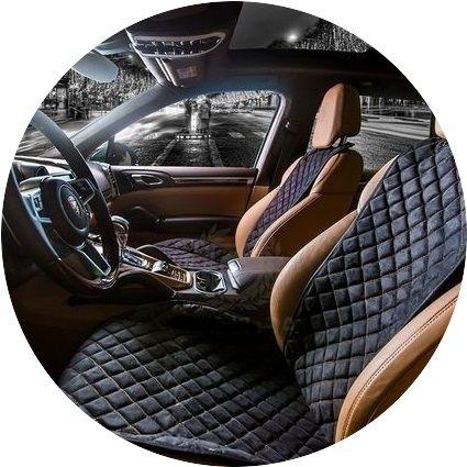 АКЦИЯ! Авто накидки из алькантары на сиденья кресло автомобиля чехлы