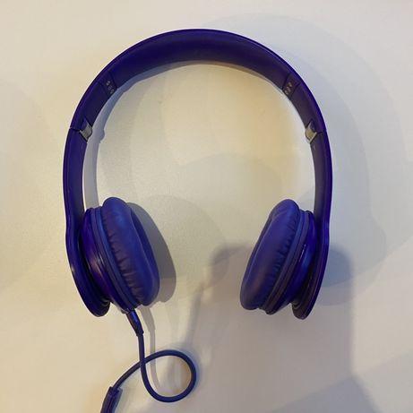 słuchawki BEATS fioletowe przewodowe