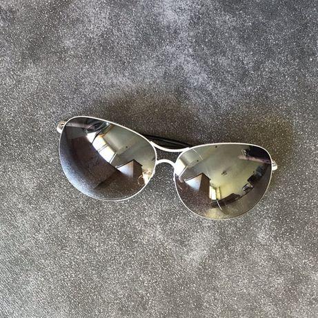 Okulary przeciwsłoneczne białe metalowe