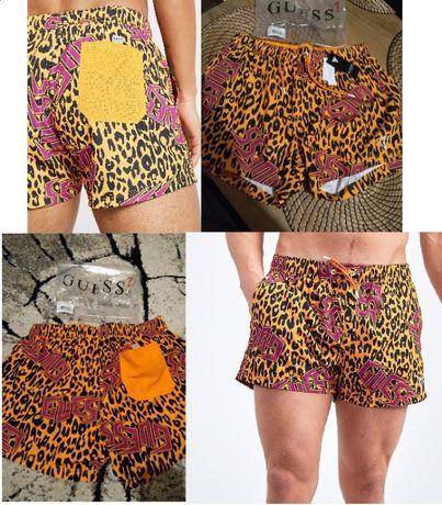 Guess leopard nowe oryginalne szorty spodenki kąpielówki męskie S i M