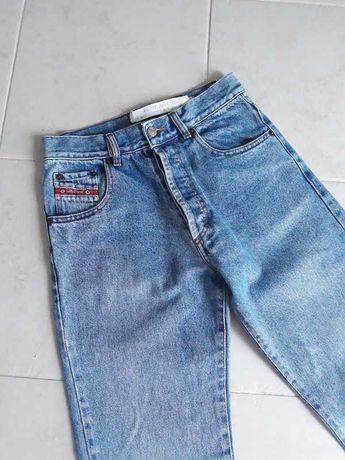 Diesel mom jeans, calças de ganga vintage cintura subida corte reto