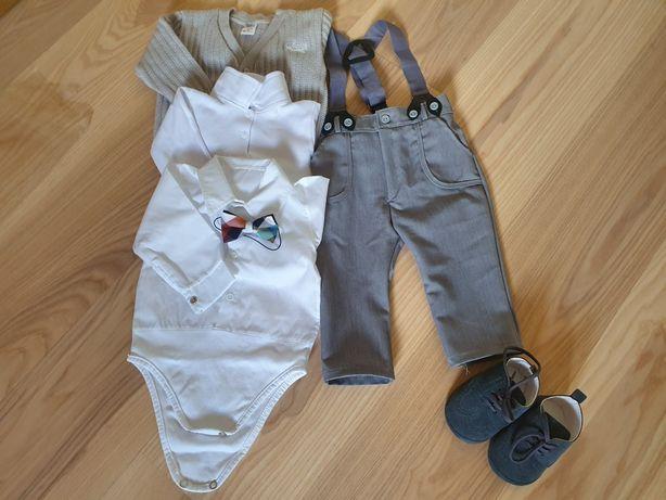 Komplet ubranko na chrzest dla chłopca r.74