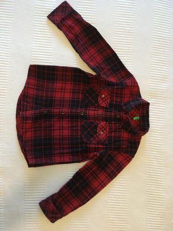 Camisa flanela Benetton 5/6anos
