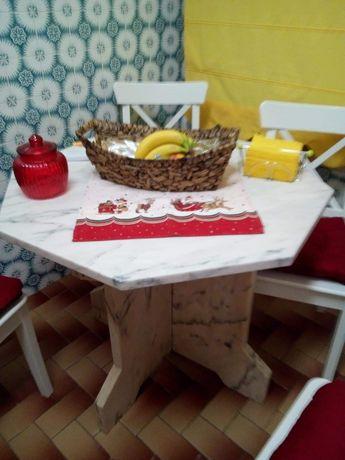 Mesa de mármore para cozinha ou exterior