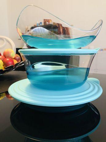 Saladeira e prato  + cesto ( oferta ) - Linha elegancia tupperware