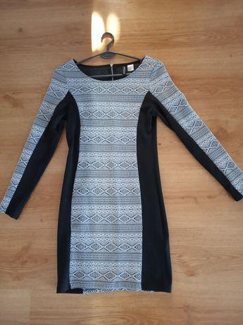 Sukienka HM S biel czern