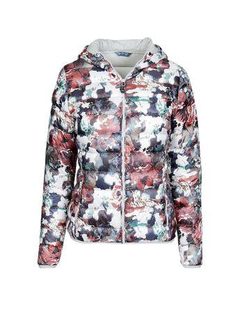 Лёгкий пуховик Meru с цветочным принтом light down jacket