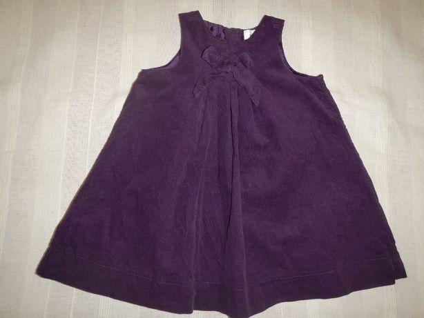 платье микровельвет Early days р.80см(12-18мес)