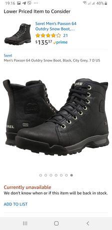 Зимние ботинки Sorel 40 размер