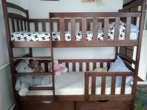 Детская двухъярусная кровать купить мебель дерево кроватка трансформер