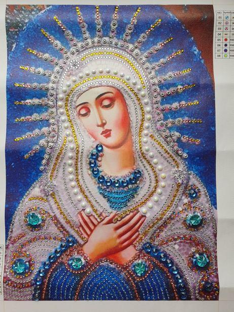 Икона в технике алмазной живописи