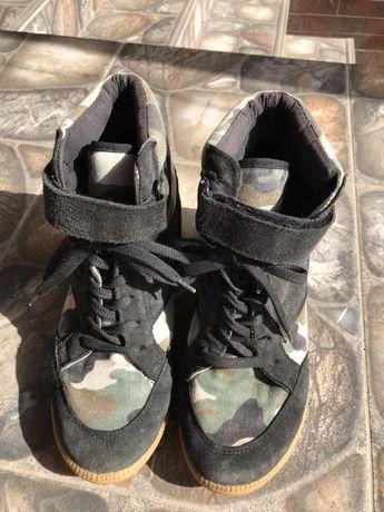 Итальянские Ботинки женские сникерсы сапожки кеди кроссовки КОЖА!