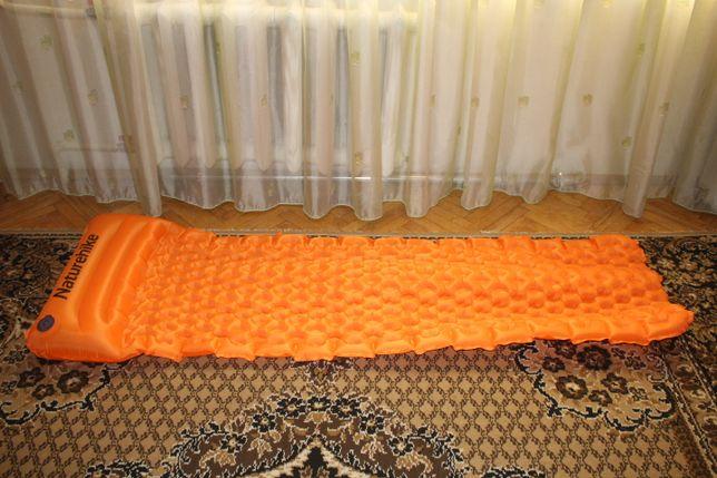 Надувной коврик, надувной матрас. Каремат туристический матрас 460грам