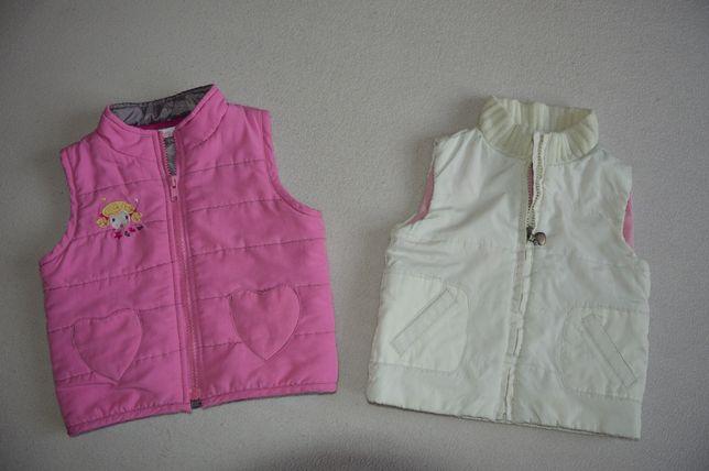 Polar,polarek,bluza,bezrękawnik,kamizelka 74/80 cm dla bliźniaczek