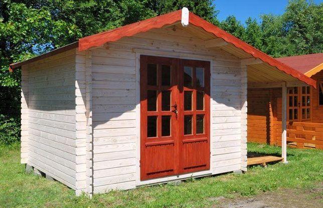 Domek drewniany ogrodowy, letniskowy, altana 3,0x3,0+1,2 drewutnia