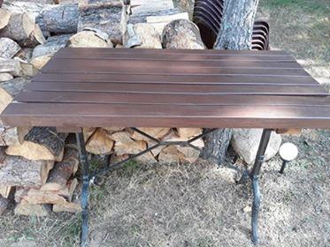 Stolik stół ogrodowy ciężki retro
