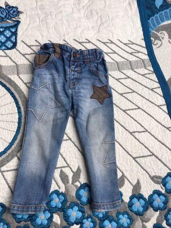 Spodnie jeansowe cienkie Next dla chłopca r. 80 9-12 mcy