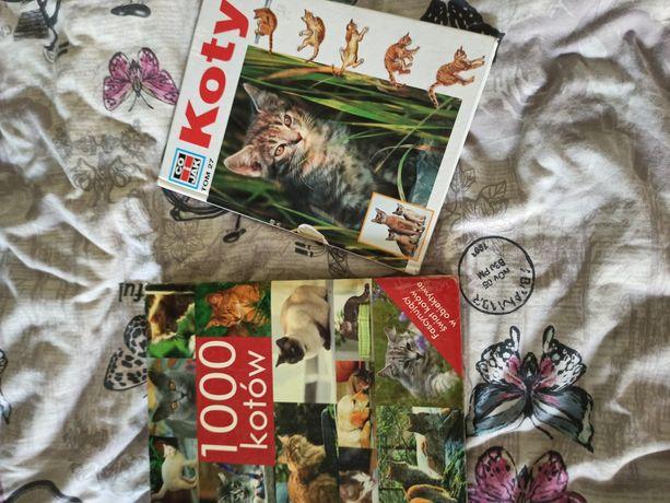 Książki o kotach komplet razem tanio