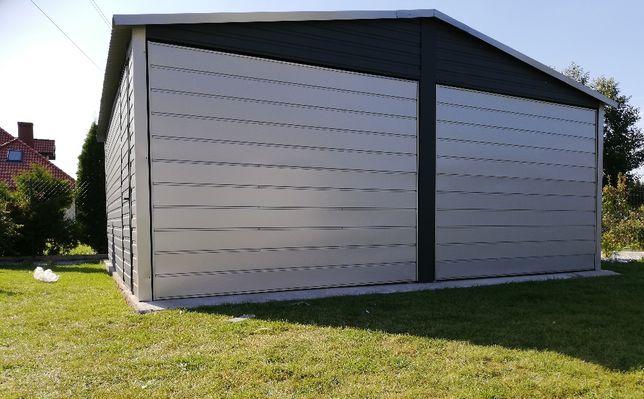 Garaż blaszany 6x5 w kolorze z palety ral do wyboru, blaszak