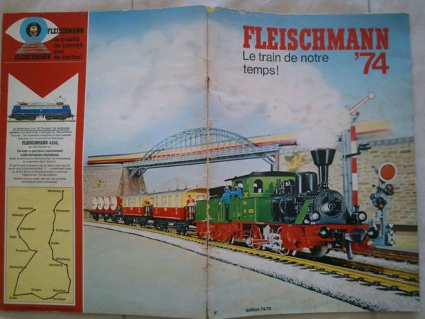 Catalogo Fleischmann comboios / brinquedos HO 1974/1975, em Francês