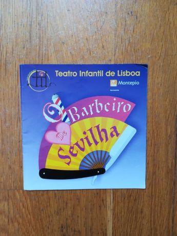 """Folheto do Teatro """"O Barbeiro de Sevilha"""" (TIL 2007) (Assinado)"""