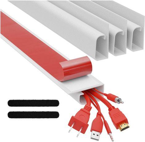 5x Organização de Cabos Mesa Escritório Secretária Cable Management PC