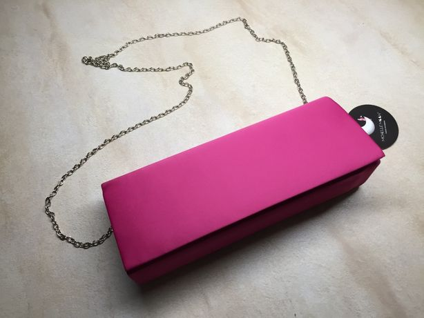 torebka kopertówka z lusterkiem różowa nowa