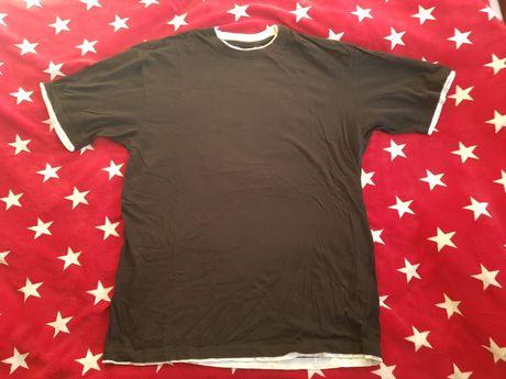 Koszulka Hoodboyz rozmiar 3XL czarna z białym wykończeniem