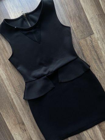 Czarna cekinowa sukienka w rozm. 38 M