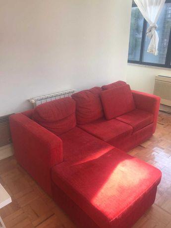 Sofá vermelho Canto