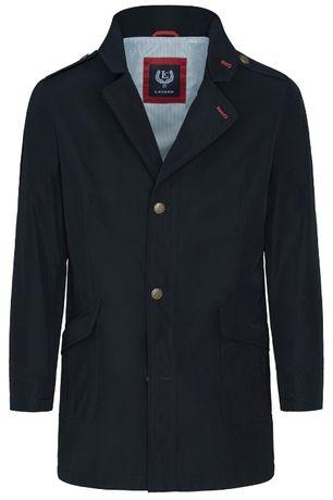 Czarny Płaszcz Męski LAVARD Alessandro Zeni 20522