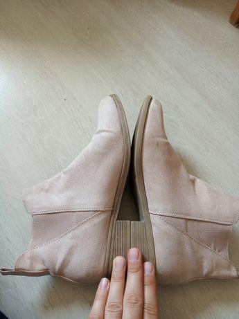 ŁOSOSIOWE przepiękne botki/buty do kostki guma nabył podbicie Piękne!