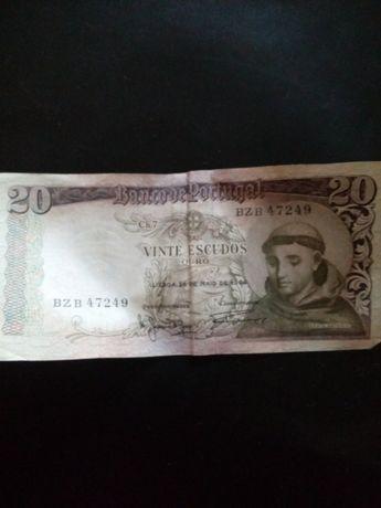 Nota de 20 escudos de 1964