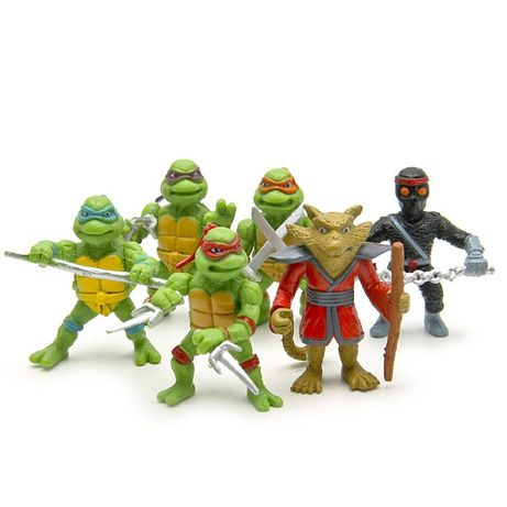 6 Tartarugas Ninja 5 cm - NOVAS Brinquedo Ninja Turtles