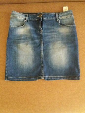 Юбка джинсовая, коттон Футболка в подарок