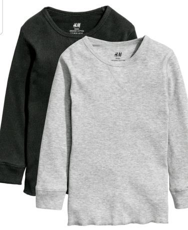 T-shirt bluzeczka 2pack H&M rozmiar 122-128 nowy