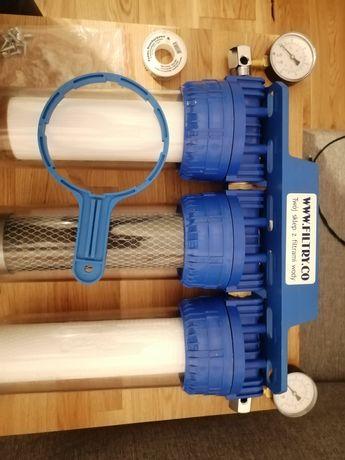 Filtr wstępny wody 3 stopniowy, odżelaziacz.