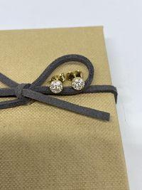 **Nowe złote kolczyki 0,95 gram , p.585-Lombard Stówka**
