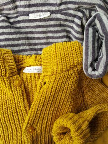 Next komplet: kurtka i sweter. Zestaw  Jesień/wiosna rozm. 9-18 m-cy.