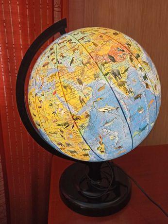 Глобус-светильник зоологический 320мм.