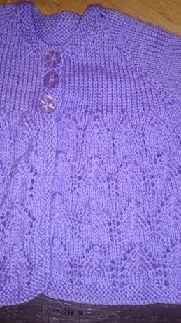 Детская вязаная кофта кофточка свитер кардиган