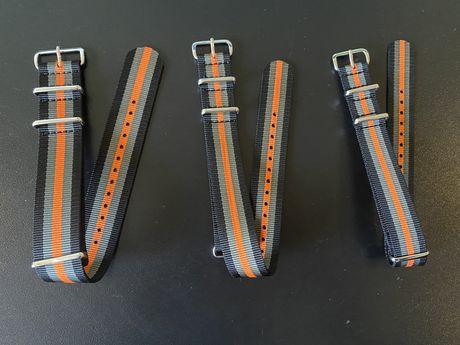 Braceletes Natos Novas às riscas 18, 20 e 24mm