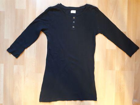 Czarna bluzka tunika z rękawami 3/4 firmy F&F rozmiar  10-11 lat