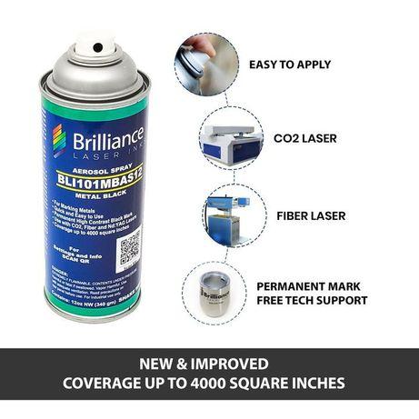 Spray para gravação a laser co2/fibra/yag em metais marca Brilliance